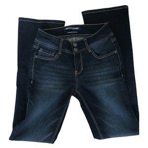 Wallflower Bootcut Size 1 / 24 Dark Blue Denim Jeans Women's Luscious Curvy Fit